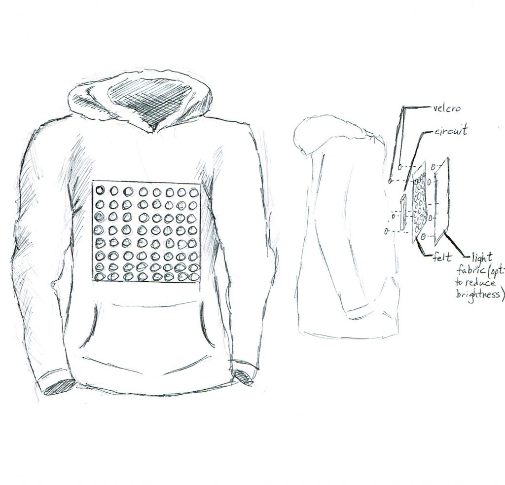 LED jacket sketch