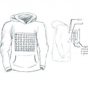 LED jacket sketch