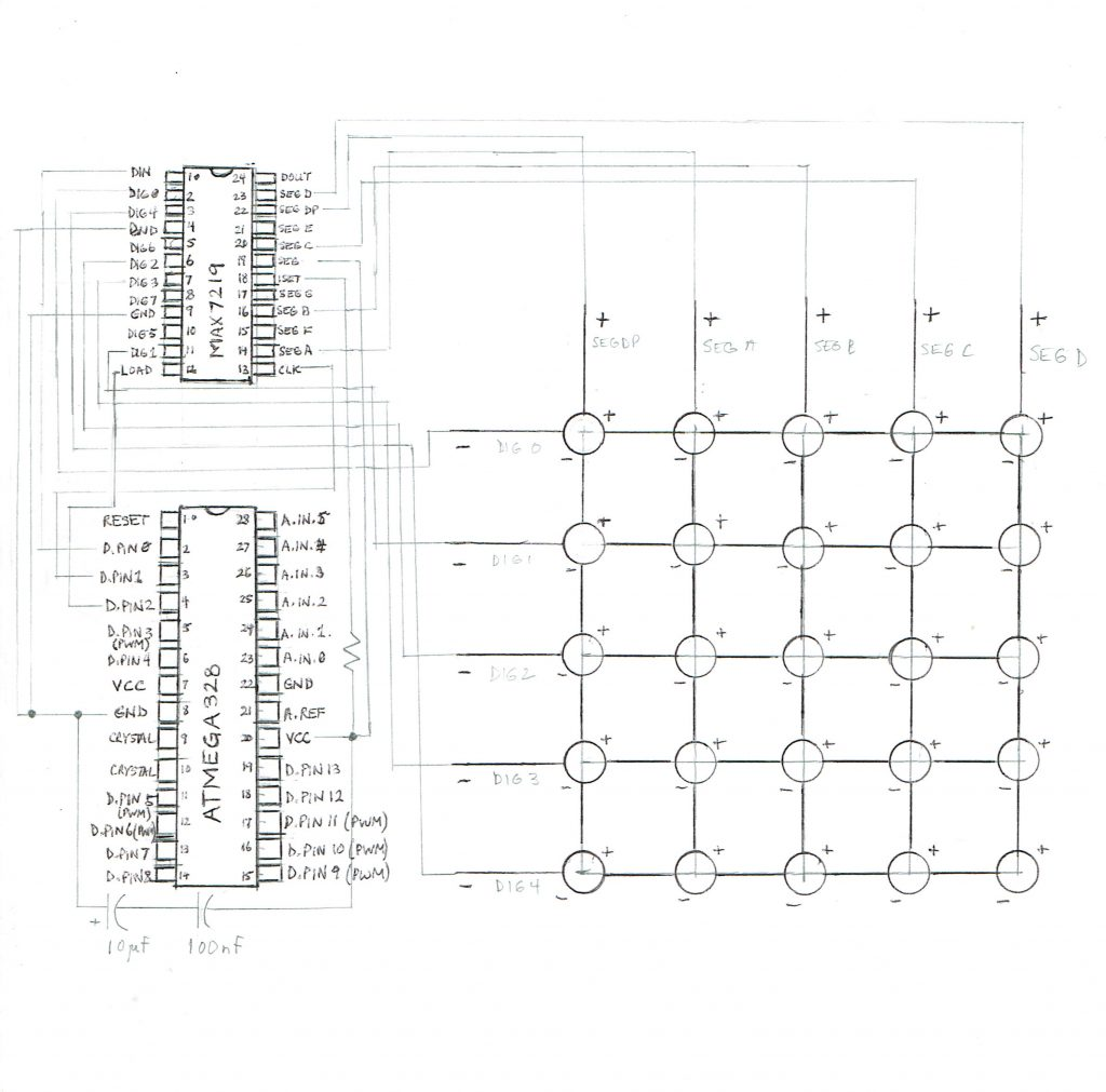 Led Matrix Schematic Diagrams Pcb Driving 10x10 With Avr Electrical Engineering Wearable Jacket Patrick Hull Display Sketch